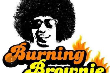 Burning Brownie logo - Review Monkey